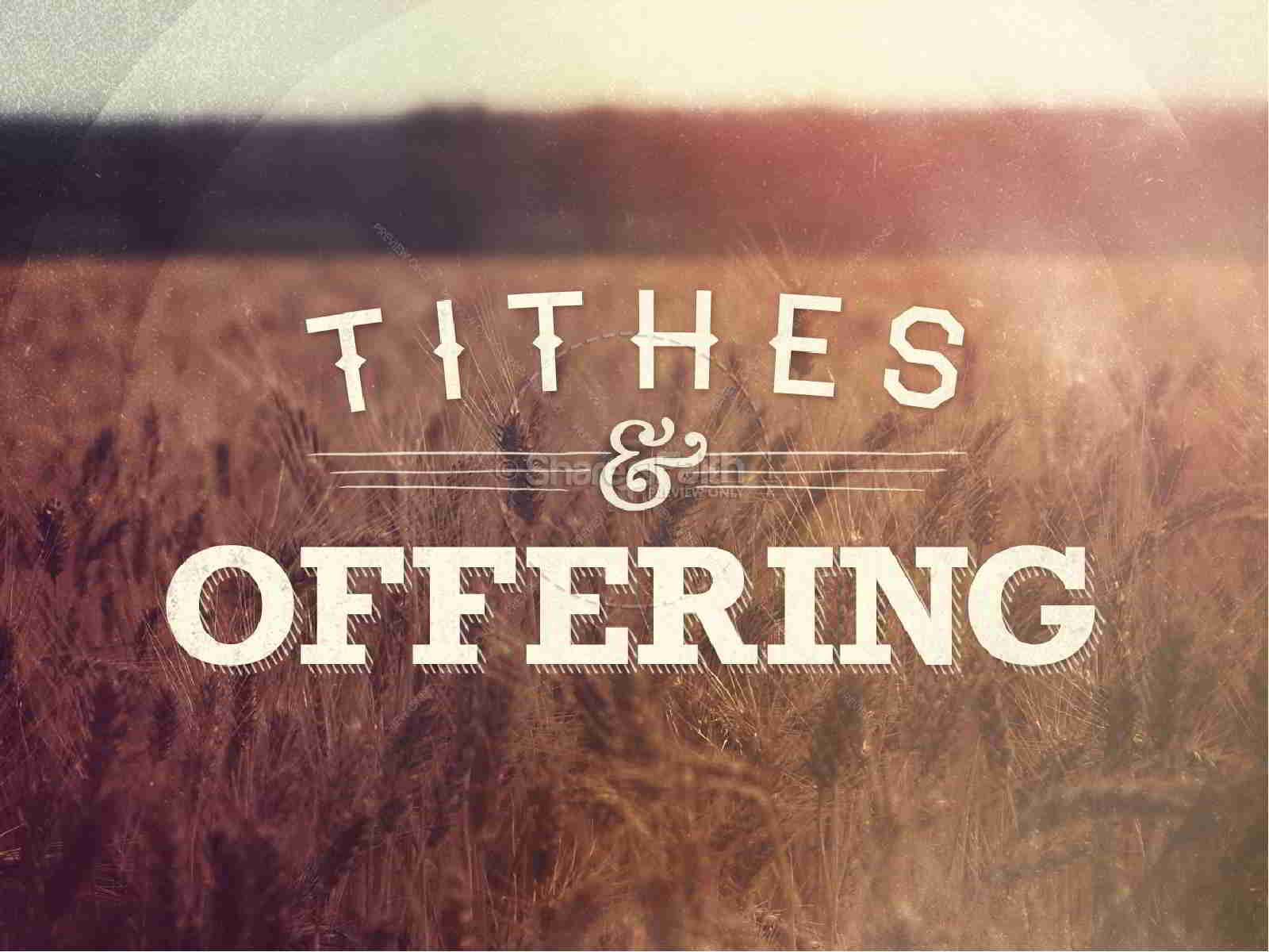 8 Reasons to Tithe